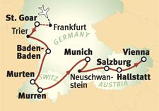hallstatt austria map